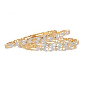 18VH1677 | 22K Two Tone Strencil Bangle Set