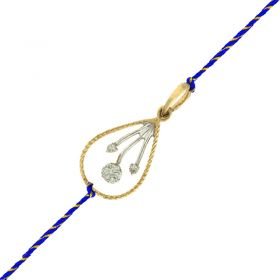 489VA123 | Diamond Bloom Gold Pendant
