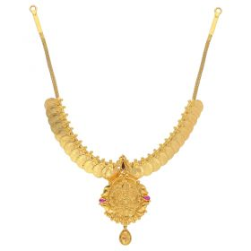 4VG900 | 22KT Plain Gold Necklace 4VG900