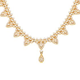 5VG3987 | 22 KT Signity Gold Necklace 5VG3987