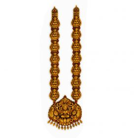 22K Antique Bridal Lakshmi Gold Haram
