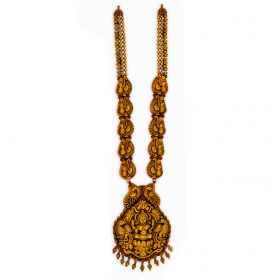 Antique Panch Mayur Gold Necklace