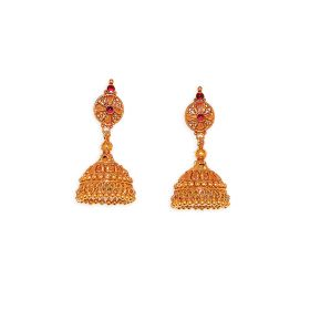 Simple Antique Gold Jhumkis