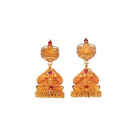 22K Attractive Antique Gold Jhumkas