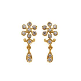 JEF268010 | Dangling Daisies Diamond Earrings