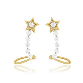 JEF60330E | Star Diamond Loops Earring