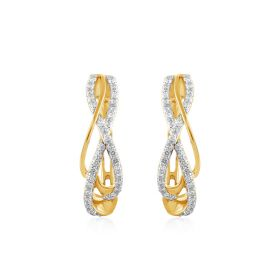 JEG05940H | Infinity Diamond Hoops