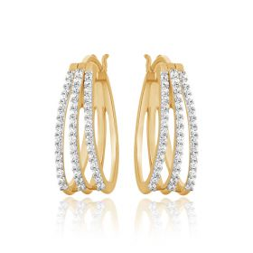 Trefoil Diamond Earrings