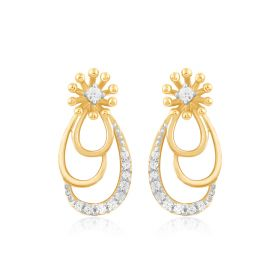 Trendy Droplets Diamond Earrings