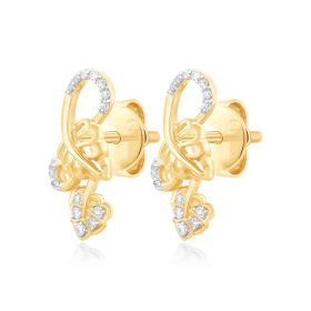 Twining Love Diamond Earrings