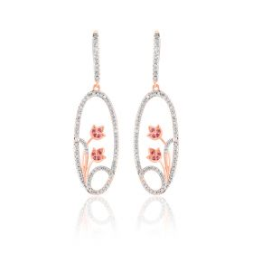 Spring Bloom Diamond Danglers