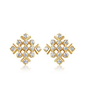 JES103106 | Maze Muse Diamond Studs Earrings