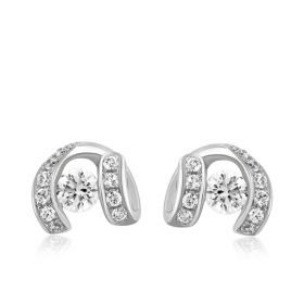 Tantalizing Twirl Diamond Hugs Earring