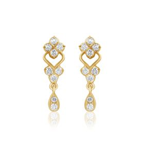 JES175707 | Dainty Miniature Diamond Dangles