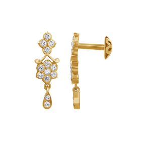 JES176107 | Floral Elfin Diamond Drops Earring