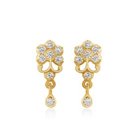 JES226406 | Graceful Florid Diamond Drops Earring
