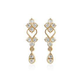 Traditional Bling Diamond Drops Earring