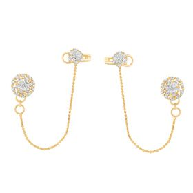 JES32621A | Sassy Swirls Diamond Matti Earring