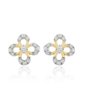 Ornate Diamond Diamond Studs