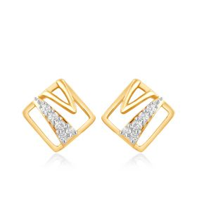 Trendy Sachet Diamond Studs Earring