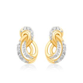 Interlocked Infinity Diamond Earrings
