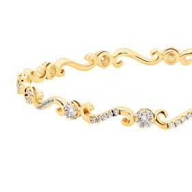 Stylish S-Cross Diamond Bangle