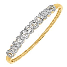 Braided Beauty Diamond Bangle