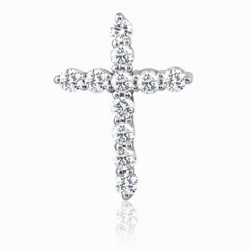 JPF01180Q | Faith Cross Diamond Pendant