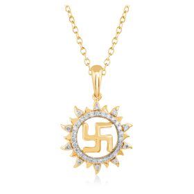 JPF57110Q | Heavenly Swastik Diamond Pendant
