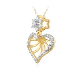 Star Spangled Heart Diamond Pendant