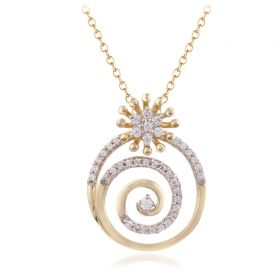 JPN47910F | Swirly Trellis Diamond Pendant