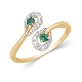 JRF15430A | Emerald Magnificence Diamond Ring