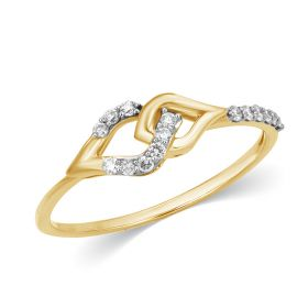 Entwined Marquise Diamond Ring