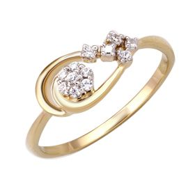 JRN11920A | Looped Floral Diamond Ring