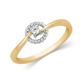 Enwrapped  Twirl Diamond Ring