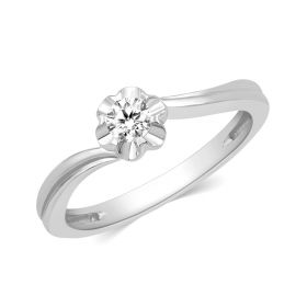 JRW49350S | Petite Cuffllink Diamond Ring