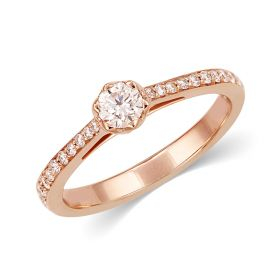 JRW72730E | Rose Gold Tiara Diamond Ring