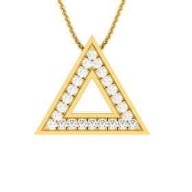 Triangle Medallion Diamond Pendant