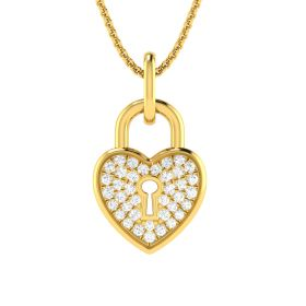 Fastened Diamond Heart Pendant