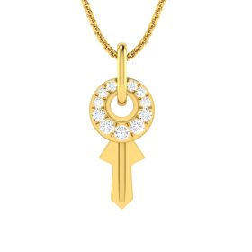 Fortune Key Diamond Pendant