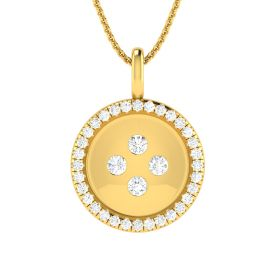 Bold Button Diamond Pendant