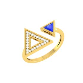 Dual Pyramid Diamond Ring