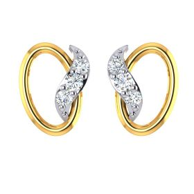 Flame in Circle CZ Studs