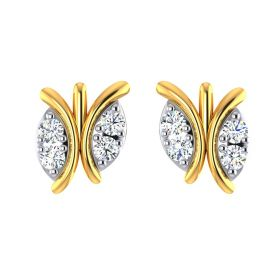 Conjoined Twin CZ Studs