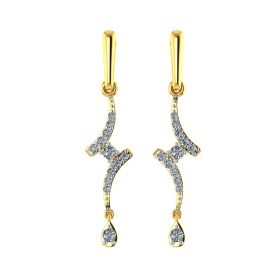 VE-427 | Contemporary Hue Gold Dangle Earrings