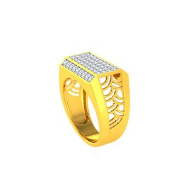 22K Men CZ Ring VGR688