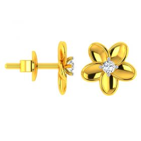 18KT Yellow Gold Kids Studded Earrings VKE-942