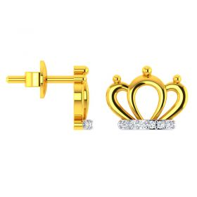 14KT Yellow Gold Kids Studded Earrings VKE-944