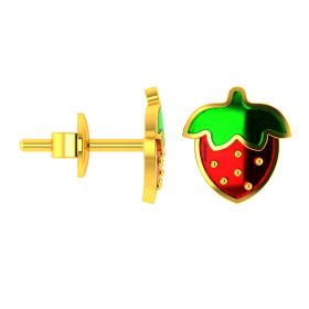 18KT Yellow Gold Kids Stud Earrings VKE-949