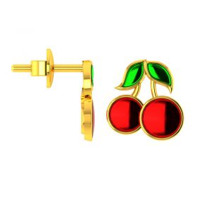 14KT Yellow Gold Kids Stud Earrings VKE-950